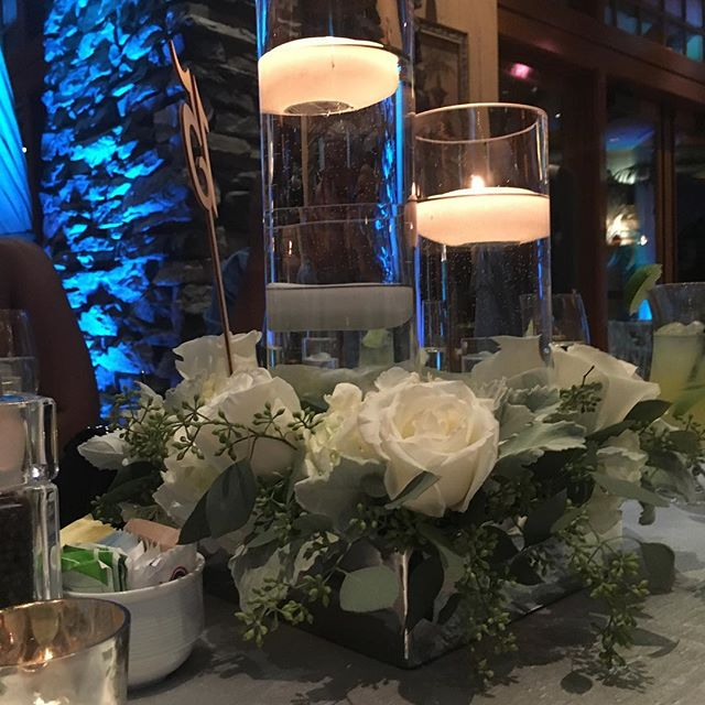 Candles and flowers are a perfect combination to set the mood! It always helps when your venue is be