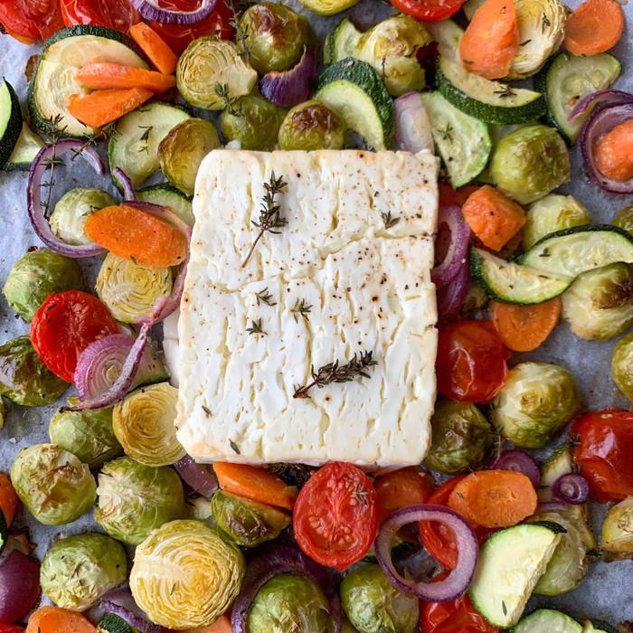 Feta al forno con verdure