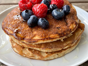 Pancake integrali con gocce di cioccolato