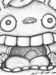 Ink work - Biro Pen - Totoro from My Neighbour Totoro