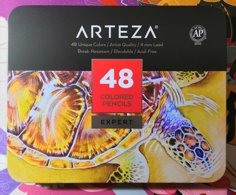Arteza 48 Professional coloured pencils, Expert, in tin