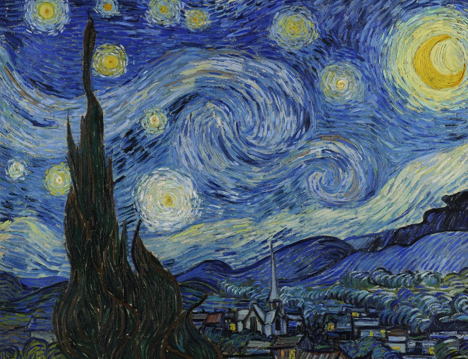 The Starry Night painting of Vincent Van Gogh