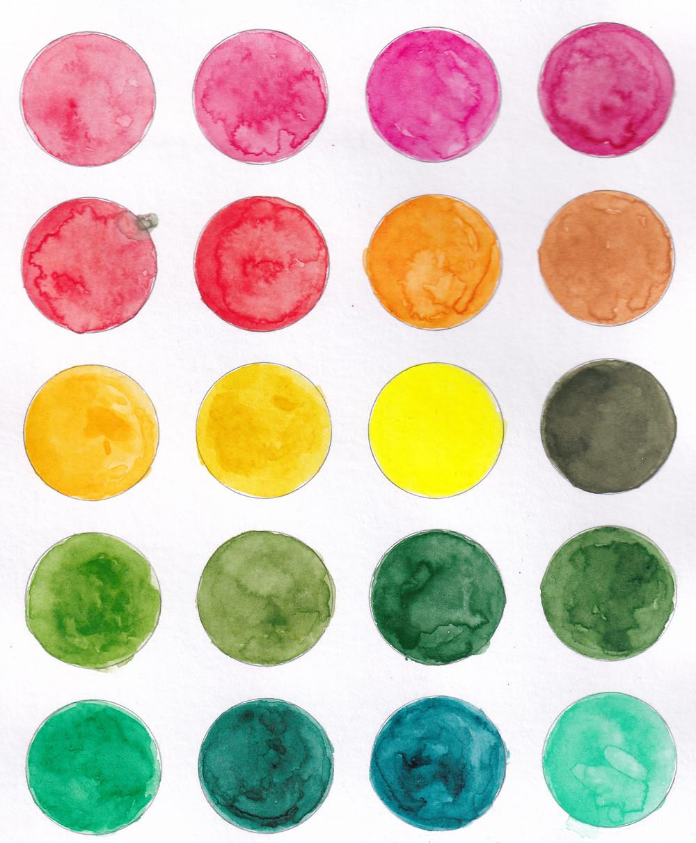 gansai tambi watercolour swatches