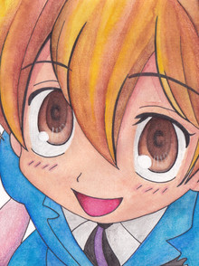 Mixed media - Ink, Watercolours and Coloured Pencils - 'Honey' from Ouran High School Host Club