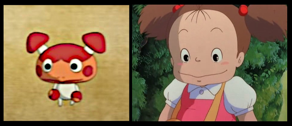 Madcap familiar from Ni No Kuni Wrath of the White Witch game looks like Mei from My Neighbour Totoro