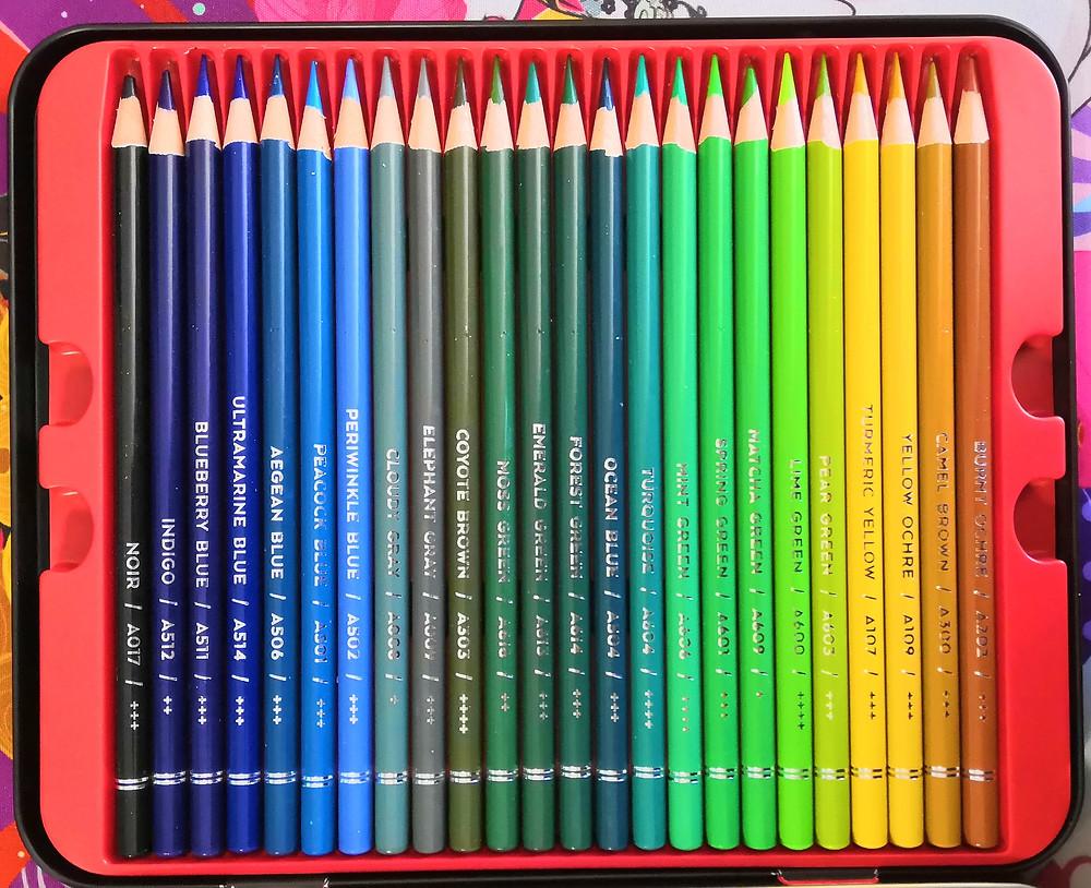 Arteza 48 Professional coloured pencils inside tin