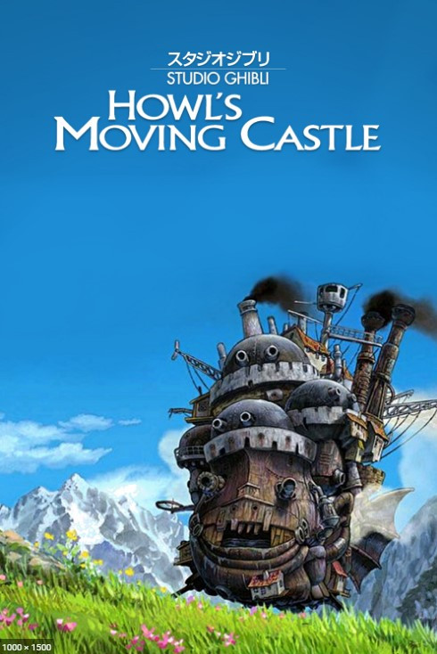 Howl's moving castle anime movie poster.