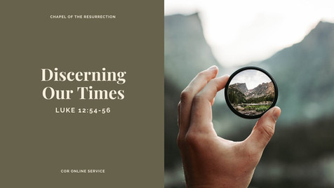Discerning Our Times: 28 - 29 March 2020