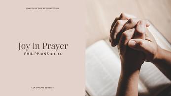 Joy In Prayer: 16 - 17 January 2021