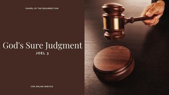 God's Sure Judgement: 30 - 31 January 2021