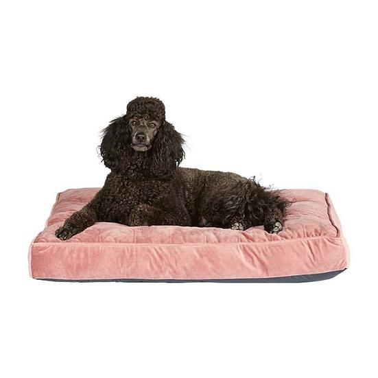 Harmony Rhapsody Velvet Rectangle Dog Mattress Rose