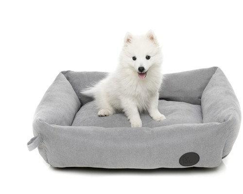 STONE GREY DOG BED