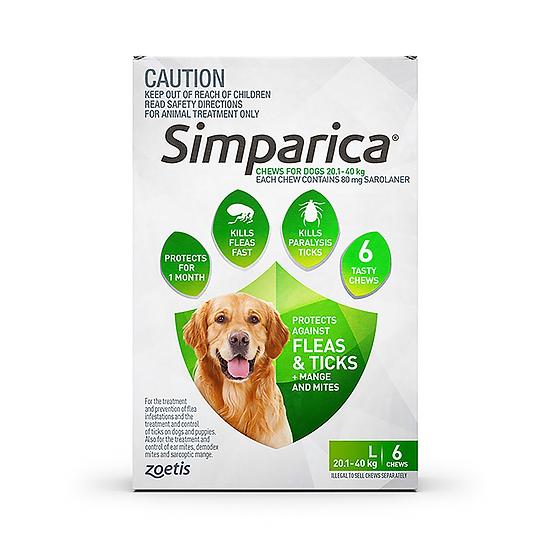 Simparica Flea Tick Chews Large Dog