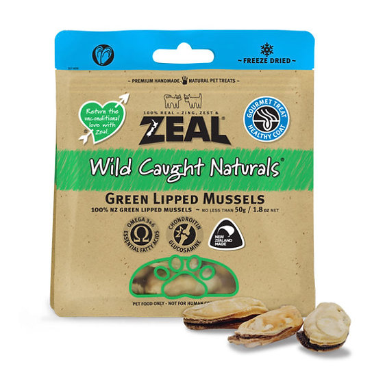 ZEAL FREE RANGE NATURALS GREEN LIPPED MUSSELS