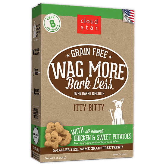 Cloud Star Wag More Bark Less Grain-Free Itty Bitty Oven Baked with Chicken & Sw