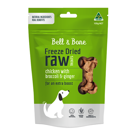 Bell and Bone Chicken With Broccoli And Ginger Freeze Dried