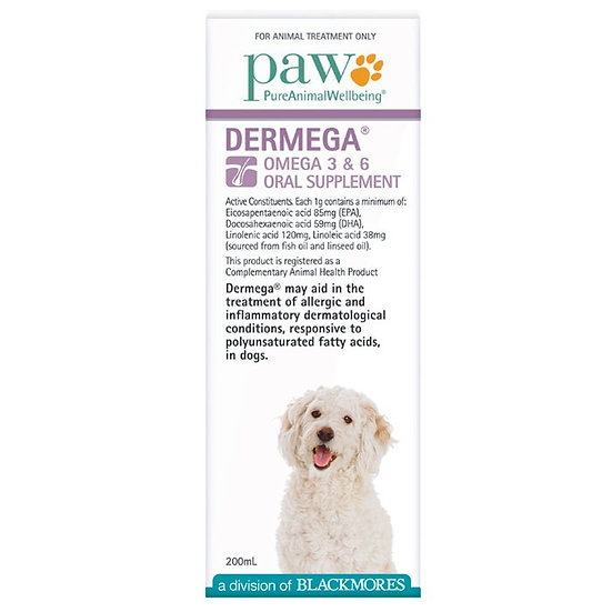 Paw Dermega 3 & 6 Oral Supplement