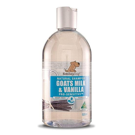 Smiley Dog Goats Milk & Vanilla Dog Shampoo