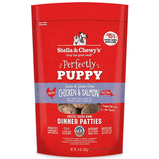 Stella & Chewy's Perfectly Puppy Chicken & Salmon Dinner Patties Freeze-Dried Ra