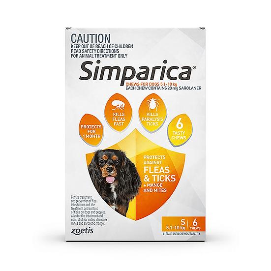 Simparica Flea Tick Chews Small Dog