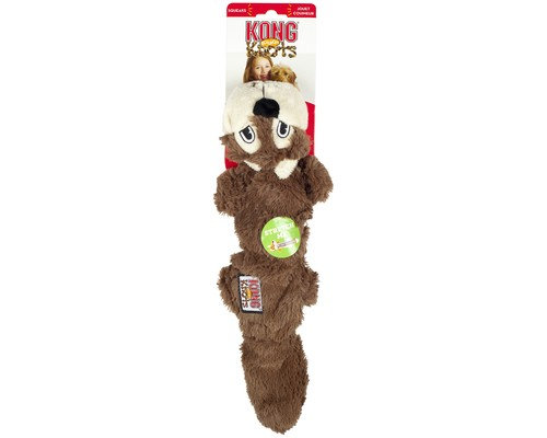 KONG Scrunch Knots Squirrel Large Stretchy Soft Squeak Toy