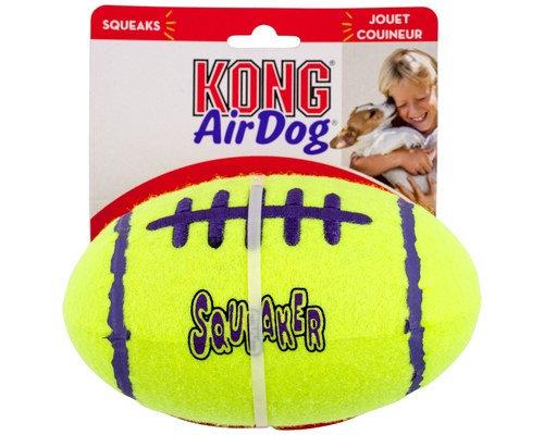KONG AirDog Squeaker Football Nonabrasive Feltch