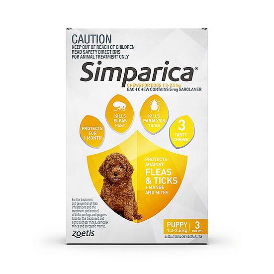 Simparica Flea Tick Chews Puppy