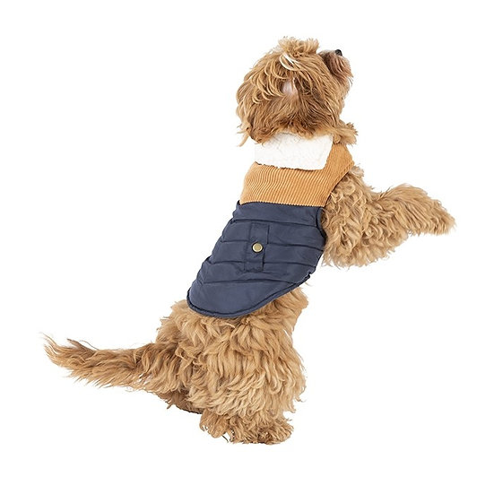 Bond & Co Cord Chevron Quilted Dog Jacket