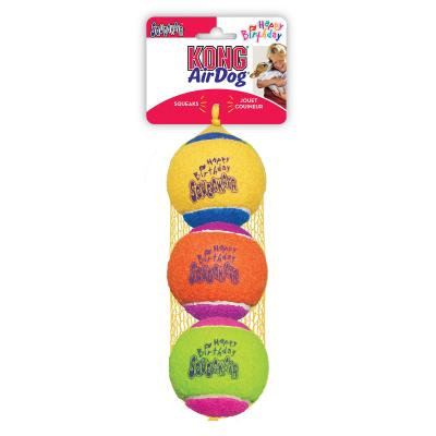 KONG SqueakAir Squeaker Birthday Balls