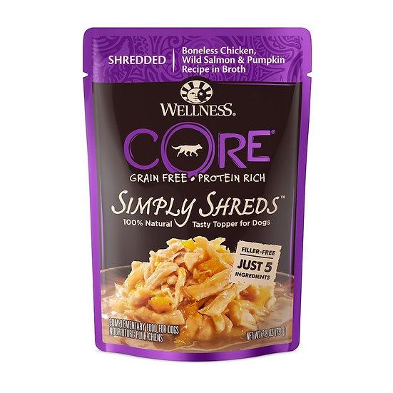 Wellness Core Simply Shreds Chicken Salmon & Pumpkin