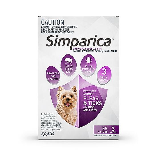 Simparica Flea Tick Chews Extra Small Dog