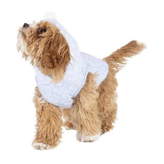 Bond & Co Bone Paw Print Cosy Pom Dog Hoodie