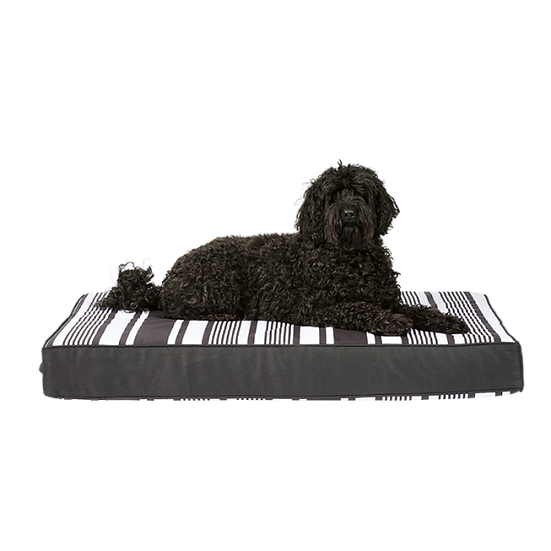 Harmony Stay Dry Ortho Axis Dog Mattress Black & White