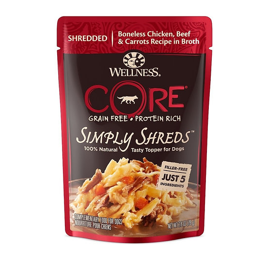 Wellness Core Simply Shreds Chicken Beef & Carrot