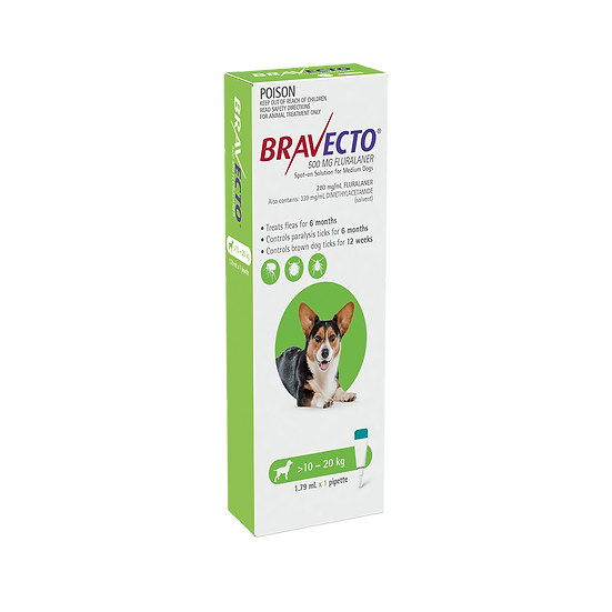 Bravecto Spot On For Dogs Green