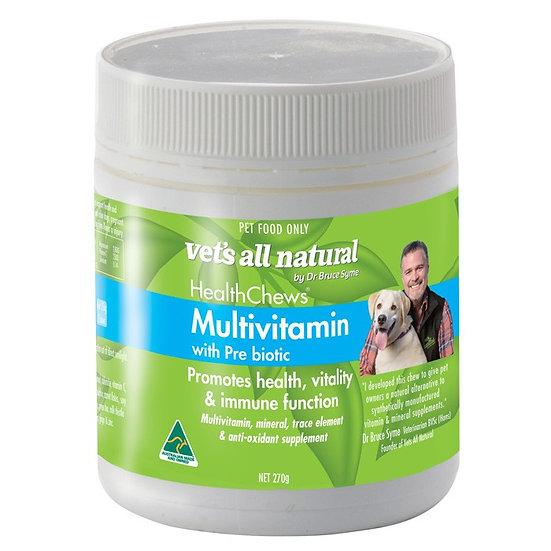Vets All Natural Health Chews Multivitamin With Prebiotic
