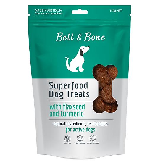 Bell & Bone Superfood Dog Treats: Flaxseed & Turmeric