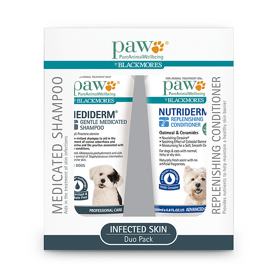 PAW Blackmores Infected Skin Shampoo And Conditioner Duo