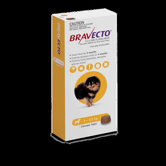 Bravecto Very Small Dog Yellow