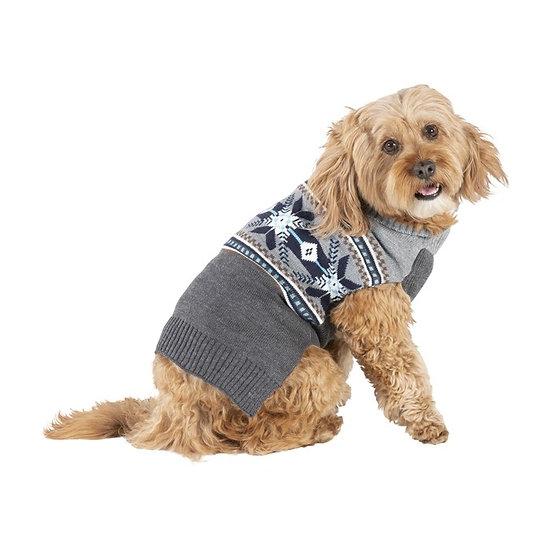 Bond & Co Snowflake Fair Isle Dog Sweater
