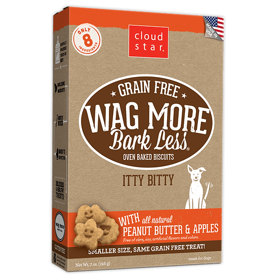 Cloud Star Wag More Bark Less Grain-Free Oven Baked with Peanut Butter & Apples