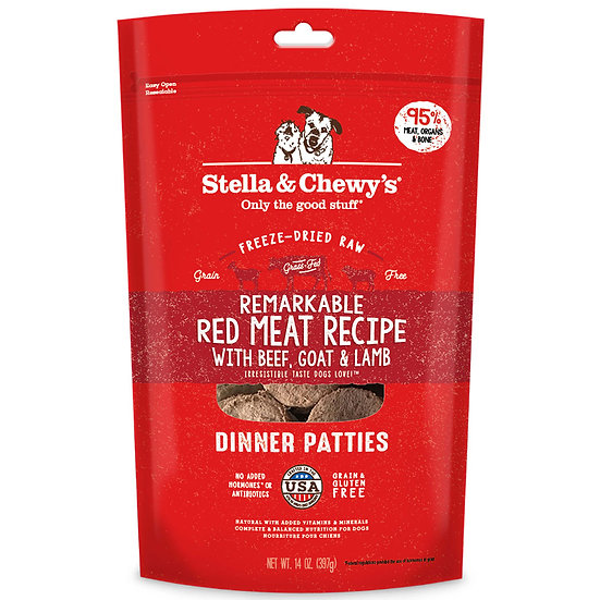 Stella & Chewy's Remarkable Red Meat Recipe Dinner Patties Freeze-Dried Raw