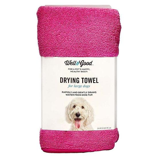 Well & Good Plain Dog Towel Pink