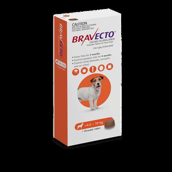Bravecto Small Dog Orange