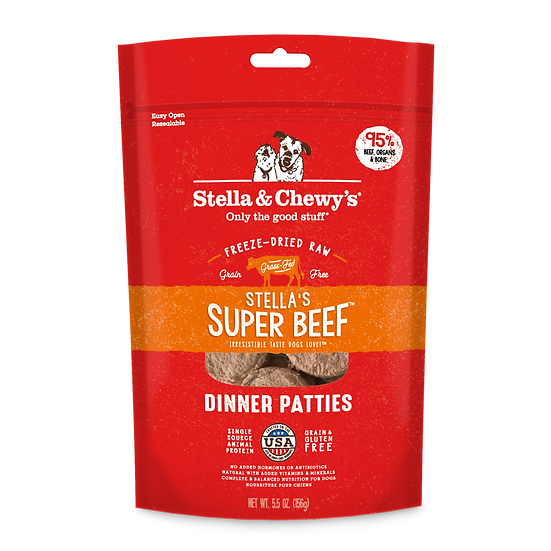 Stella & Chewy's Stella's Super Beef Dinner Patties Freeze-Dried Raw