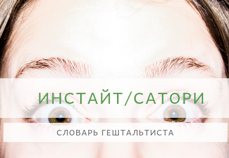 Словарь Гештальтиста - ИНСАЙТ (САТОРИ)