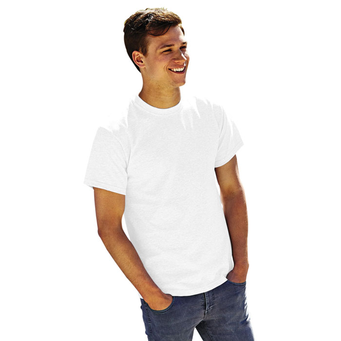 objets promotionnels tshirt homme blanc