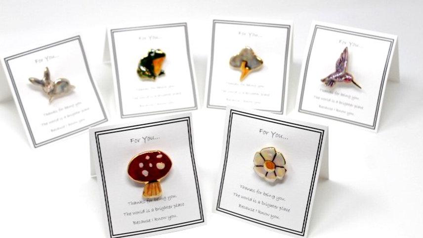 Set of Six Small Garden Pins 1