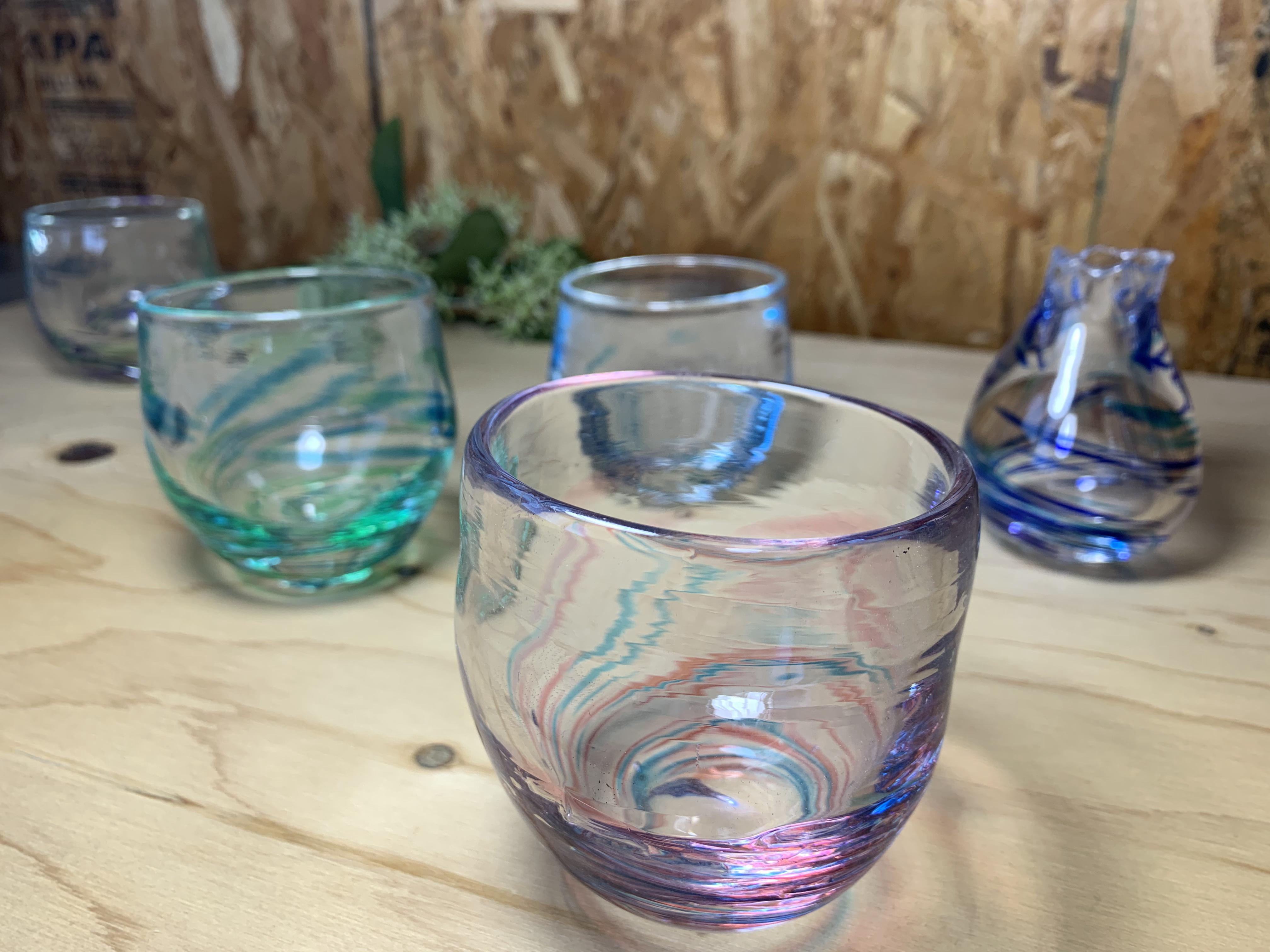 ピンブローガラス体験(創作硝子工房)