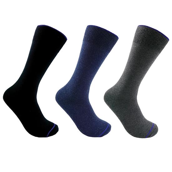 ถุงเท้าทำงาน Daily by Pally 3 คู่แพ็ค : สีดำ,สีเทา,สีกรมท่า